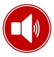 Speaker volume button vector
