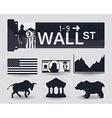 Wall street design vector