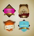 Set of labels with ribbon vector