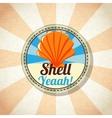 Sea shell on the shore vector