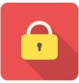Lock close icon vector