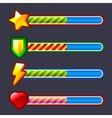 Energy progress loading game bar set vector