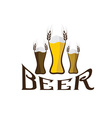 Glasses with beer vector