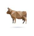 Cow abstract isolated on a white backgrounds vector