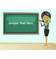 Teacher teaching lesson vector