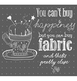 Vintage fashion and sewing poster with pin cushion vector