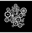 Abstract cogs - gears on black background vector