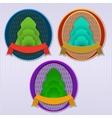 Ecology retro badge vector