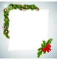 Blank sheet of paper with christmas attributes vector