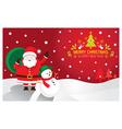 Santa snowman background vector