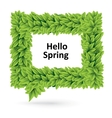 Green spring speech bubble of leaves vector