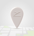 Airborn icon over map vector