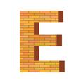 Brick letter e vector