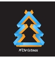 Christmas tree for celebrating the winter holidays vector