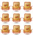 Label information badge shop sticker advertising d vector