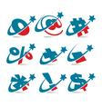 Swoosh patriotic logo symbols vector