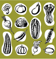 Various vegetables set vector