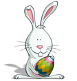 Easter bunny egg vector