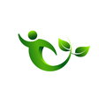 Green plant swoosh abstract concept of biology vector