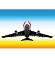 Flying up passenger plane vector