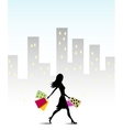 Girl go for shopping vector