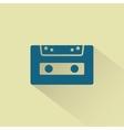 Retro audio cassette icon vector
