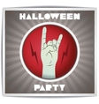 Just halloween party poster with zombie hand vector
