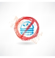 Ban hamburger grunge icon vector