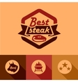 Best steak labels vector