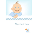 Baby boy arrival announcement vector
