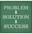 Problem solution success diagram vector