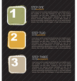 Card with the steps vector