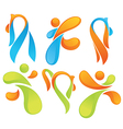 Sportive symbols vector