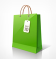 Shopping green bag vector