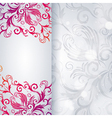 Abstract background with floral item vector
