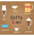 Coffe cups vector