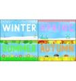 Set scenery seasons vector