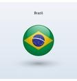 Brazil round flag vector