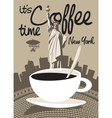 Coffee new york vector
