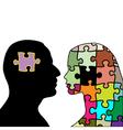 Love puzzle vector
