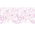 Baby girls horizontal seamless pattern background vector
