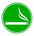 Cigarette button vector