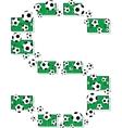 Football letter s vector