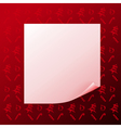 Note on red christmas background vector