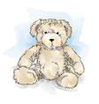 Drawing teddy bear color vector