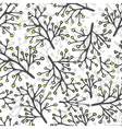 Abstract hand drawn wild flower patterns vector