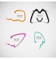 Flat line dialog design color elements vector