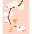 Blossom cherry branch 1 vector