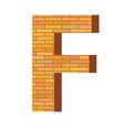 Brick letter f vector