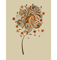Highly detailed autumn tree vector